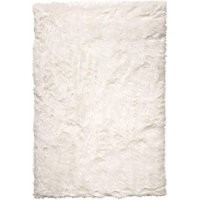 Faux Sheepskin Cloud Solid Soft and Plush Ivory Shag Area Rugs, 5 Feet by 7 Feet (5' x 7')