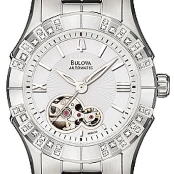 Bulova Women's Diamond Automatic BVA Series 140 Watch 96R123