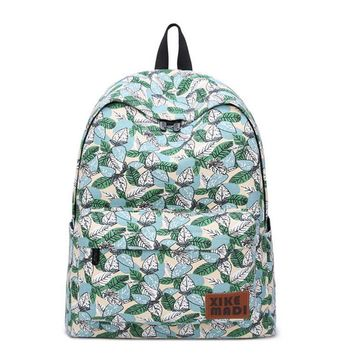 Green Leaves Backpack School Bag for Daily Use  Sports Picnic Camping Travel Trip
