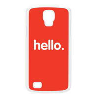 Hello White Hard Plastic Case for Galaxy S4 Active by textGuy