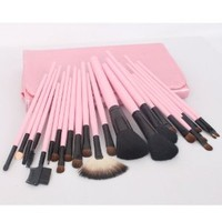 Amazon.com: 23pcs Pink Professional Cosmetic Makeup Make up Brush Brushes Set Kit With Bag Case: Beauty