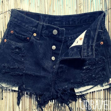 High Waisted Black Levis (X SMALL)