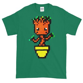 Baby Groot Perler Art Short-Sleeve T-Shirt by Aubrey Silva