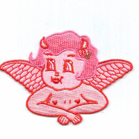 Lolly Dolly Devil Cherub Embroidered Iron On Patch