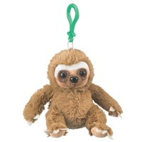 4 Inch Sloth Stuffed Animal Clips for Kids Backpack Toy