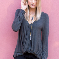 Milani Drape Long Sleeve Top