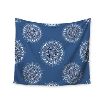 "Julia Grifol ""Blue Harmony"" Blue White Digital Wall Tapestry"