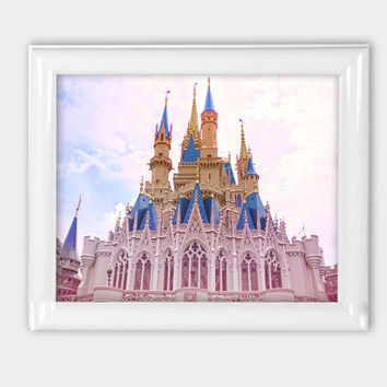 Photo Print 8x10 Cinderella Castle Disneyworld Print Princess Wall Art Disney Photography Princess Decor