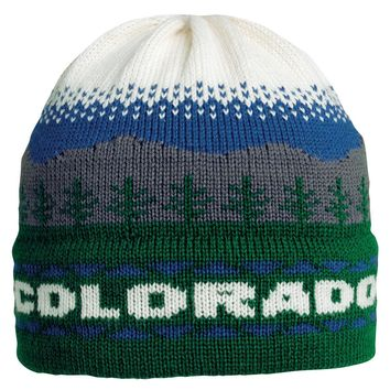 Colorado Mountains Knit Beanie