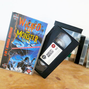 Wicked City and Monster City Manga VHS 1989. Adult Japanese Animation. English Dubbed.