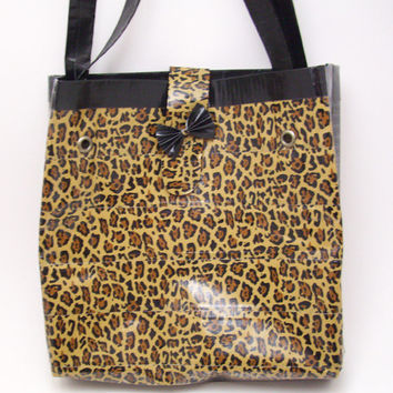 Leopard Print Duct Tape Purse by PyrateWench on Etsy