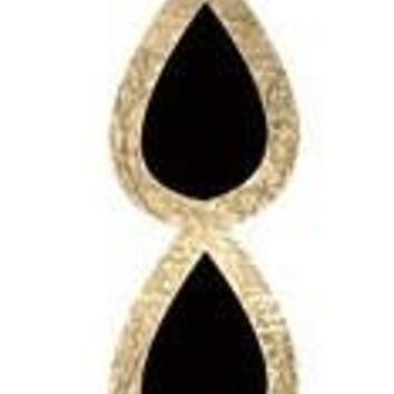 Gold and Black Teardrop Bracelet Fashion Tats