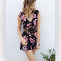Fill Me In Playsuit- Black