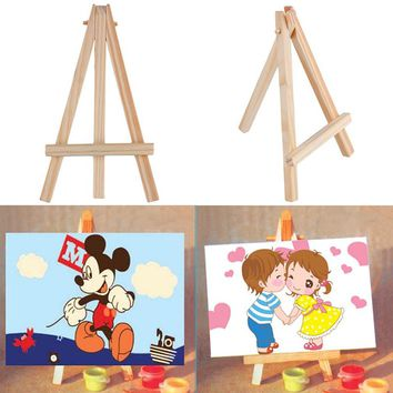 Kids Mini Wooden Easel Artist Art Painting Name Card Stand Display Holder Educational Toy Special And Meaningful Gift For Child