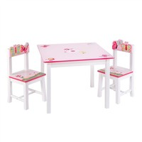 Butterfly Pink Table and Chairs Set
