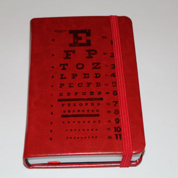 Eye Chart Journal Sketch Book Diary Planner