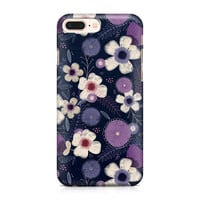 Beautiful Purple and Cream Flowers Phone Case - Floral Pattern Phone Case - Pretty Phone Case - iPhone 8 - Galaxy S9
