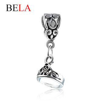 Fit Original Pandora Bracelets 925 Unique Silver Princess Dangle Charm Beads DIY Jewel