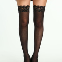 LACE TOP THIGH HIGH TIGHTS
