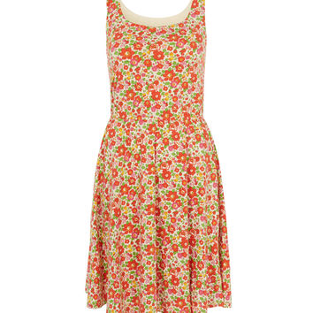 Liberty London for Uniqlo Betsy Red Printed Bra Dress | Womenswear | Liberty.co.uk