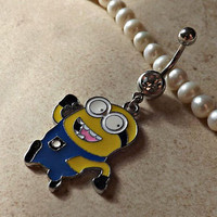 DESPICABLE ME MINION Belly Ring Navel Ring Body Jewelry 14ga