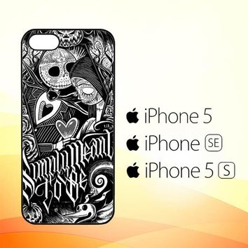 Jack And Sally Muertitos The Nightmare Before Christmas F0874  iPhone 5|5S|SE Case