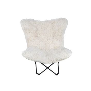 Mainstays Fur Butterfly Chair, Ivory - Walmart.com