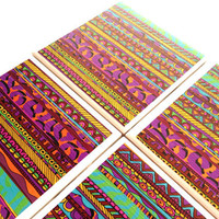 Aimee St Hill Ceramic Coasters Tribal Pink Drink Tile Set