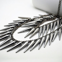 Black Arrow Arrows Necklace,Inspired by Anime Naruto Kunai pendant necklace jewelry,three chain NAR01
