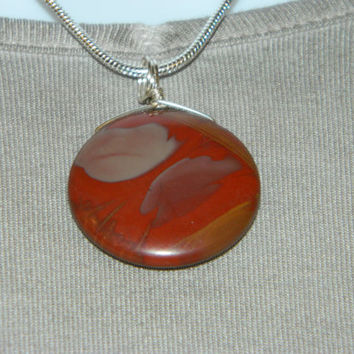 55ct. Mixed Red Stone, Semi Precious, Agate, Pendant, Necklace, Round, Natural Stone, 151-15