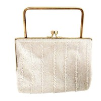 Pre-owned 1960s Richere White Beaded Purse