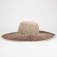 Ombre Straw Womens Floppy Hat Brown One Size For Women 26389240001