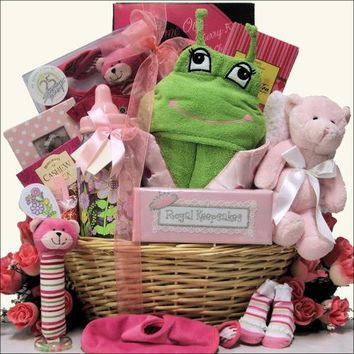 Congratulations Baby - Girl: Baby Gift Basket