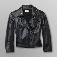 Dream Out Loud by Selena Gomez  Junior's Cropped Moto Jacket - Faux Leather