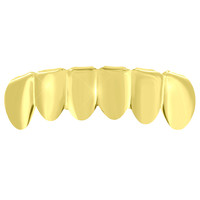Hip Hop Teeth Grillz Top Mouth Caps 14K Gold Plated