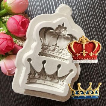 Cool New Domineering King Queen Crown Shape Silicone Mold  Fondant Cake Decoration Chocolate Candy Baking Childlike ClayAT_93_12