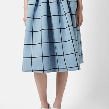 Women's Topshop Windowpane Midi Skirt