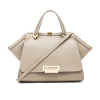 Zac Zac Posen Eartha Iconic Jumbo Double Handle Bag in Beige