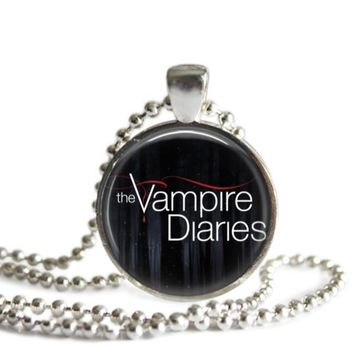The Vampire Diaries 1 Inch Silver Plated Pendant Necklace Handmade