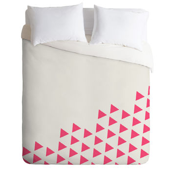 Allyson Johnson Pink Triangles Duvet Cover
