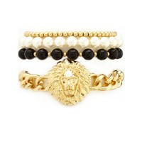 LION HEAD BRACELET SET
