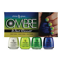 China Glaze 4 Piece Ombre Set Wave Runner