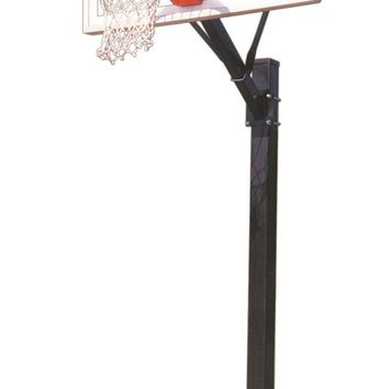 First Team Sport II In Ground Outdoor Fixed Height Basketball Hoop 48 inch Acrylic