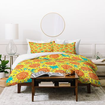 Sharon Turner Sunflower Field Duvet Cover
