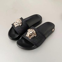 shosouvenir  Versace Woman Men Fashion Casual Sandals Slipper Shoes