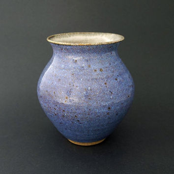 Ceramic vase, blue vase, purple vase, pottery vase, handmade, blue ceramic vase, stoneware clay