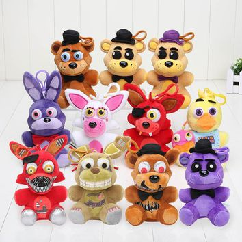 NEW 14cm keychain  At  pendant  chica Golden Freddy Nightmare Fredbear Bear Mangle Foxy Plush Toys