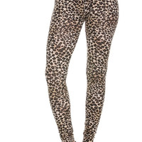Trendy Printed Stretch Knit Leggings