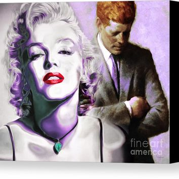 Marilyn Monroe And John F Kennedy 20160106 Horizontal Canvas Print