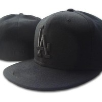 LA Baseball Fitted Hats Mens,Sport Hip Hop Fitted Caps Womens,Fashion Cotton Casual Hats